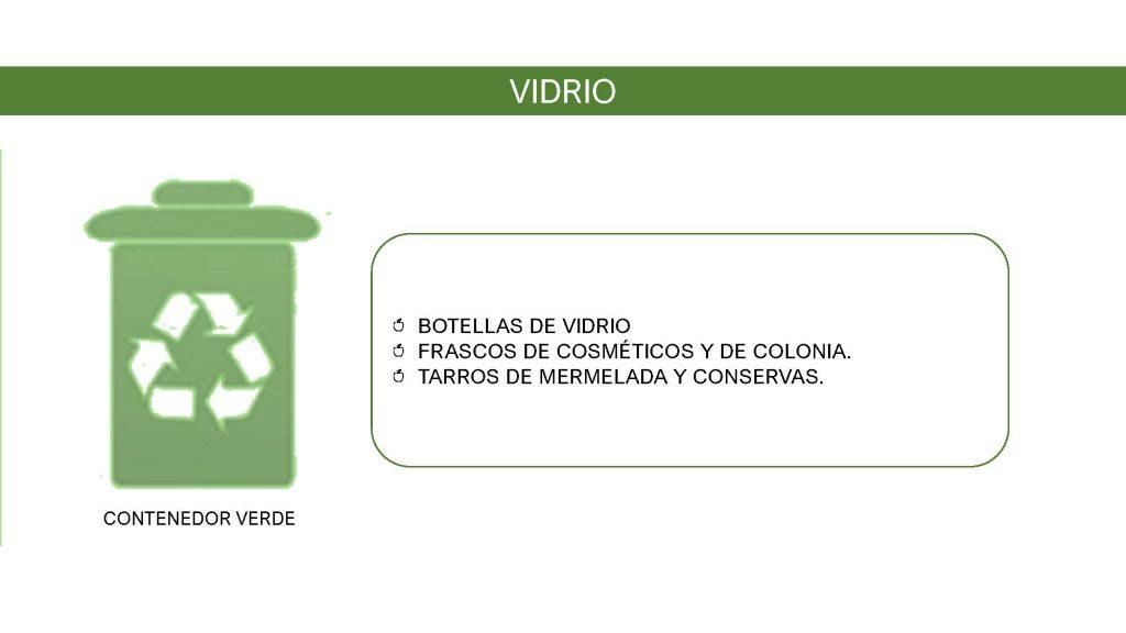 contenedor  verde vidrio